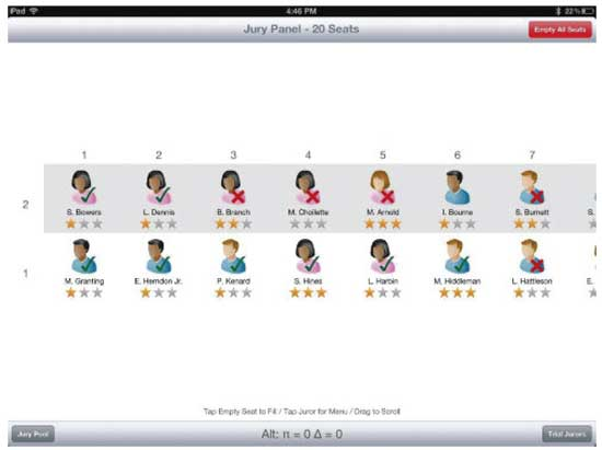 Getting your iPad to help with voir dire