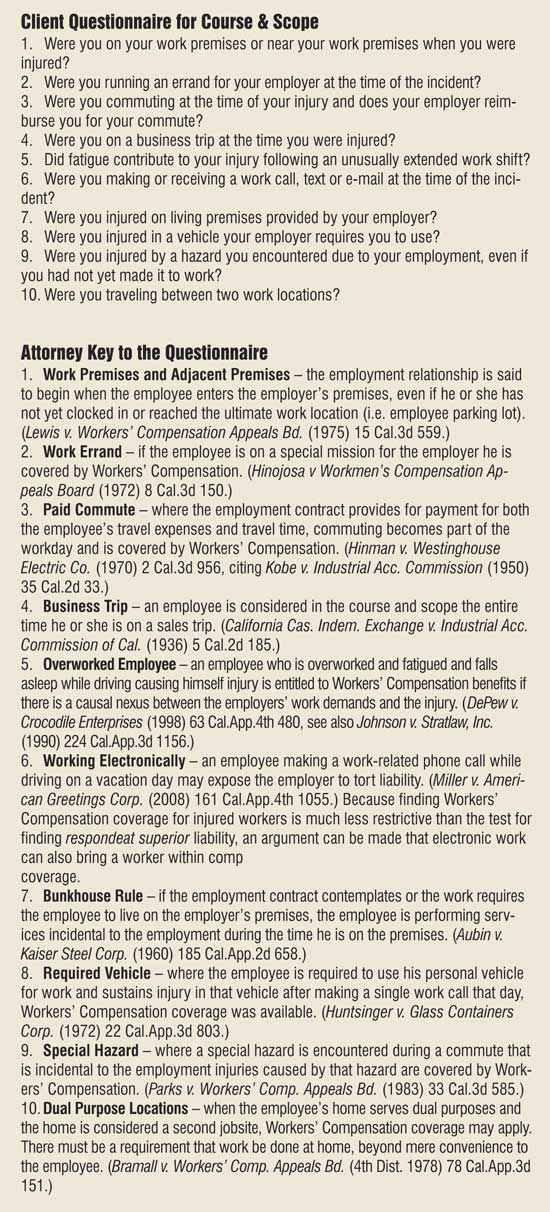 Course and scope of employment