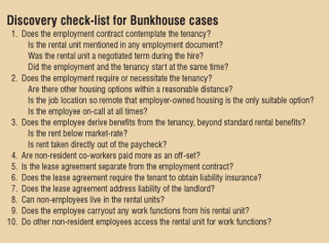 The Bunkhouse Rule