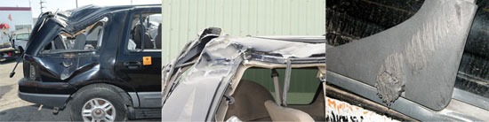 Roadway and vehicle evidence in rollover collisions